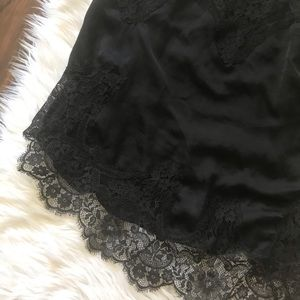 Victoria's Secret Intimates & Sleepwear - Victoria's Secret Black Lace Trim Lingerie Tank